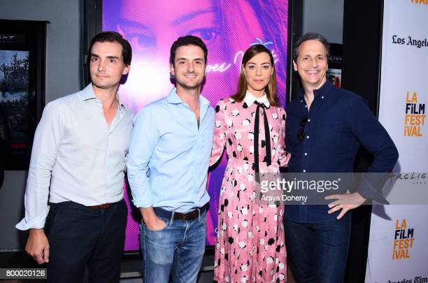 Producers Tim White and Trevor White actor Aubrey Plaza and Neon's Tom Quinn attend the Closing Night Screening of 'Ingrid Goes West' during the 2017...