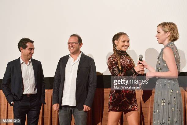 Producers Yann Zenou and Laurent Zeitoun actress/dancer Maddie Ziegler and actress/singer Carly Rae Jepsen attend the Weinstein Company's 'LEAP' at...