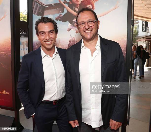 Producers Yann Zenou and Laurent Zeitoun attend the premiere Of The Weinstein Company's 'Leap' at Pacific Theatres at The Grove on August 19 2017 in...