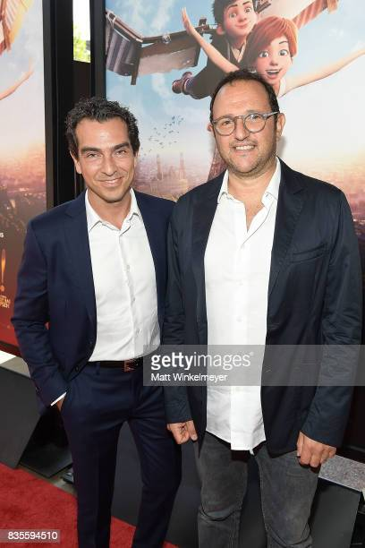 Producers Yann Zenou and Laurent Zeitoun attend the Weinstein Company's 'LEAP' at The Grove on August 19 2017 in Los Angeles California