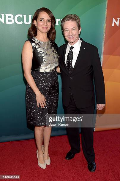 Producers/TV personalities Maya Rudolph and Martin Short attend the 2016 NBCUniversal Summer Press Day at Four Seasons Hotel Westlake Village on...