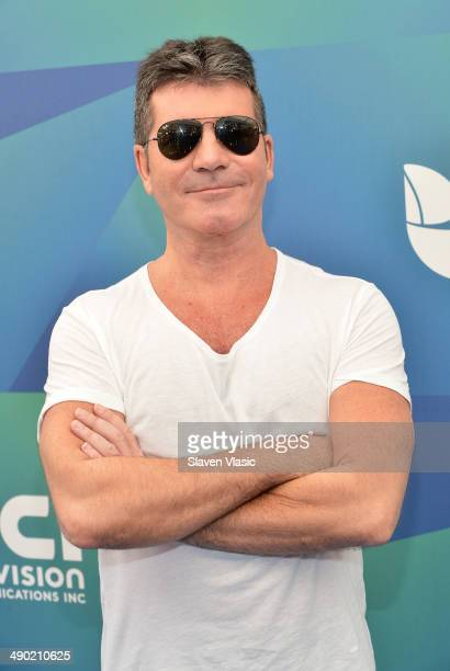 Producer/TV personality Simon Cowell attends the 2014 Univision Upfront at Gotham Hall on May 13 2014 in New York City