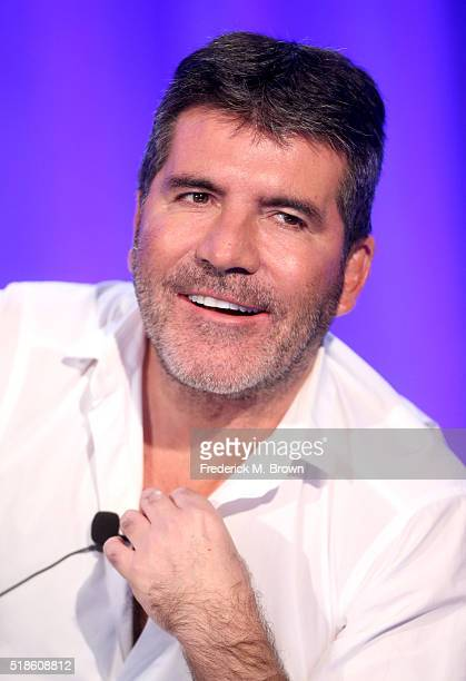 Producer/TV personality Simon Cowell speaks onstage during the 'America's Got Talent' panel at the 2016 NBCUniversal Summer Press Day at Four Seasons...