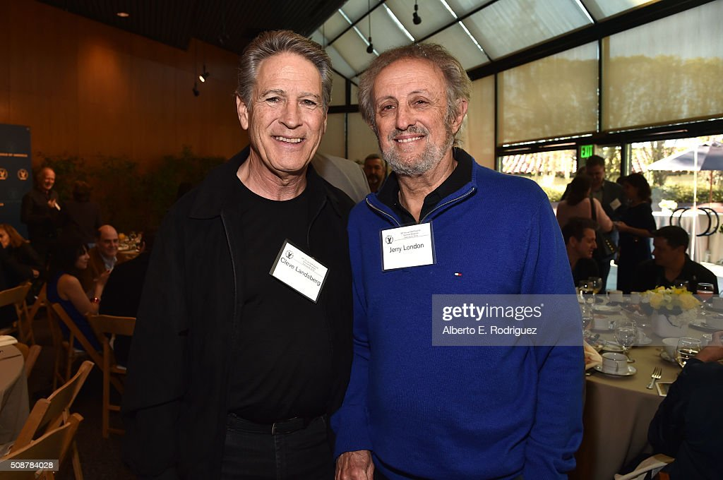 Producer/unit production manager Cleve Landsberg (L) and director Jerry London attend the 68th Annual Directors Guild Of America Awards Feature Film Symposium at Directors Guild of America on February 6, 2016 in Los Angeles, California.