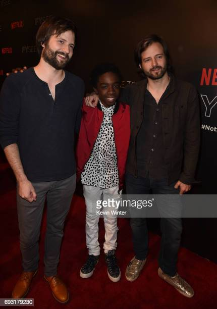 Producer/writer Matt Duffer Caleb McLaughlin and producer/writer Ross Duffer attend Netflix's 'Stranger Things' For Your Consideration event at...