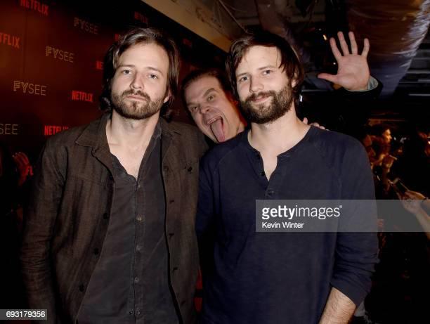 Producer/writer Ross Duffer David Harbour and producer/writer Matt Duffer attend Netflix's 'Stranger Things' For Your Consideration event at Netflix...