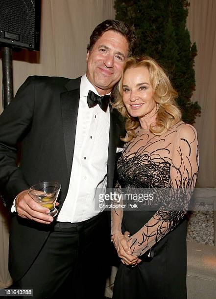 Producer/writer Steven Levitan and actress Jessica Lange attend the Fox Broadcasting Company Twentieth Century Fox Television and FX celebration of...