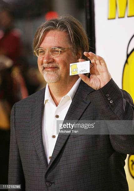 Producer/writer/creator Matt Groening arrives at 'The Simpsons Movie' World Premiere at The Mann Bruin and The Mann Village Theaters on July 24 2007...