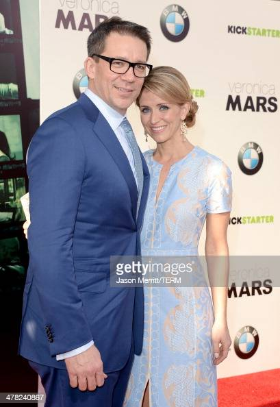 Producer/writer/director Rob Thomas and Katie Thomas arrive at the Los Angeles premiere of 'Veronica Mars' at TCL Chinese Theatre on March 12 2014 in...