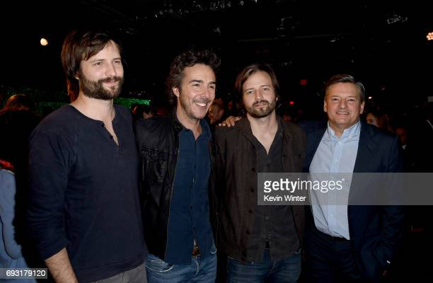 Producer/writers Matt Duffer Shawn Levy Ross Duffer and Netflix CCO Ted Sarandos attend Netflix's 'Stranger Things' For Your Consideration event at...