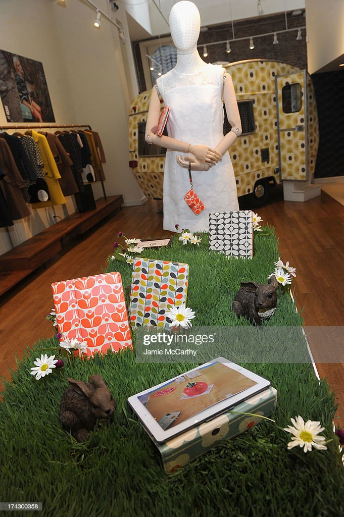 Product display at the Orla Kiely for Target Preview Party on July 23, 2013 in New York City.