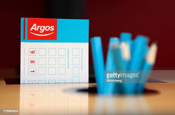 Product order forms and pencils sit on display at an Argos store operated by Home Retail Group Plc in Enfield UK on Wednesday Sept 7 2011 Home Retail...