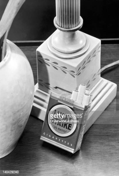 A product shot of Lucky Strike cigarettes United States circa 1940