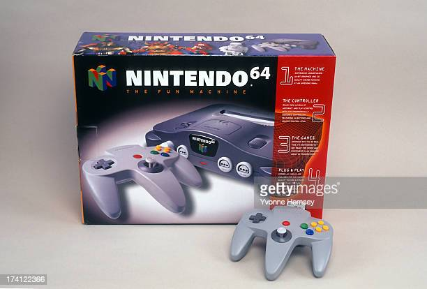 Product shot of Nintendo 64 game system and controller is photographed December 7 1996 in New York City
