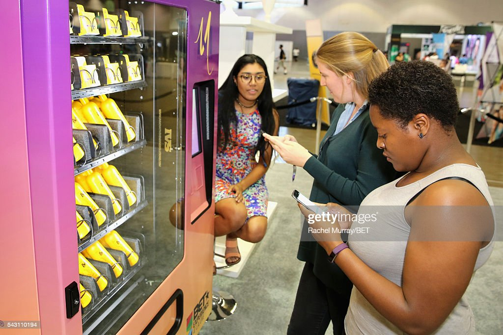 Product vending machine at Fashion And Beauty @BETX presented by Progressive, Covergirl, Strength of Nature, Korbel and Macy's during the 2016 BET Experience on June 25, 2016 in Los Angeles, California.
