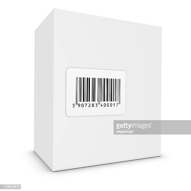 product white box with bar code