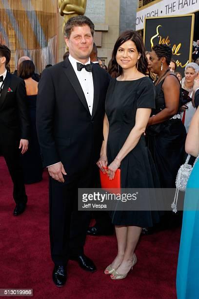 Production designer Adam Stockhausen and guest attend the 88th Annual Academy Awards at Hollywood Highland Center on February 28 2016 in Hollywood...