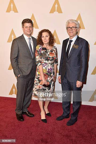 Production designer Adam Stockhausen set decorators Rena DeAngelo and Bernhard Henrich attend the 88th Annual Academy Awards nominee luncheon on...