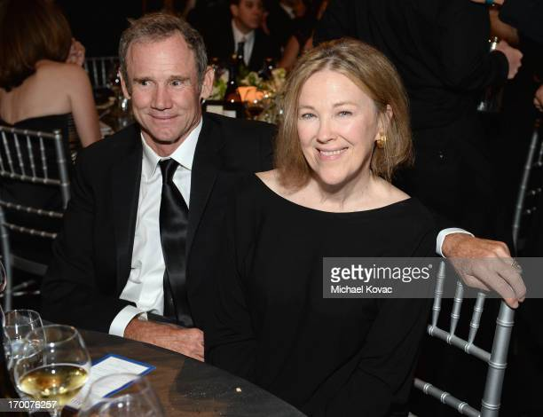 Production designer Bo Welch and actress Actress Catherine O'Hara attend 41st AFI Life Achievement Award Honoring Mel Brooks at Dolby Theatre on June...