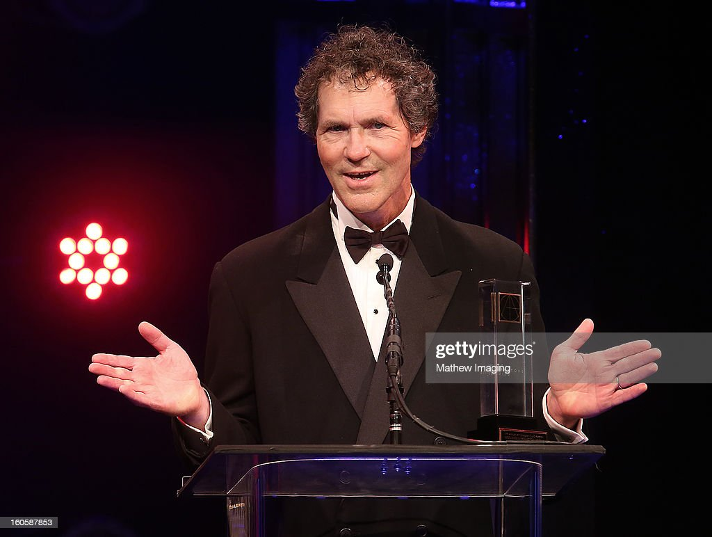 Production Designer Dennis Gassner accepts the Excellence in Production Design for a Contemporary Feature Film 2012 Award for SKYFALL, onstage at The 17th Annual Art Directors Guild Awards, held at the Beverly Hilton Hotel on February 2, 2013 in Beverly Hills, California.
