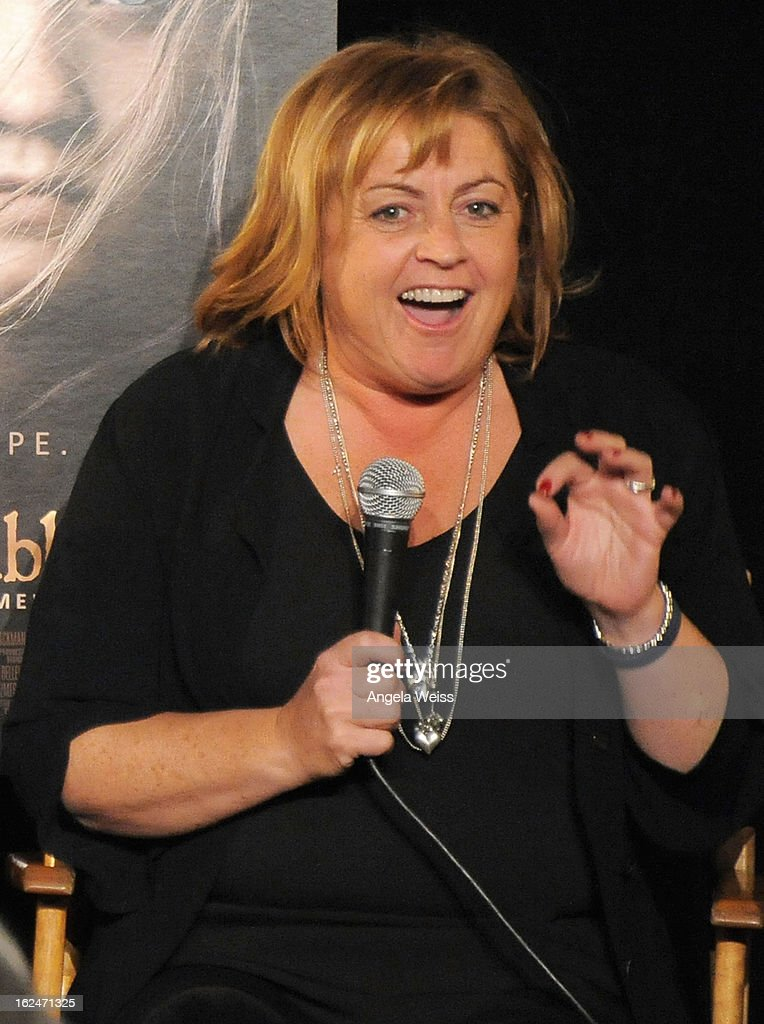 Production designer <a gi-track='captionPersonalityLinkClicked' href=/galleries/search?phrase=Eve+Stewart&family=editorial&specificpeople=2272588 ng-click='$event.stopPropagation()'>Eve Stewart</a> attends the Academy Award Nominees for Production Design and Set Decorators panel discussion at the Egyptian Theatre on February 23, 2013 in Hollywood, California.