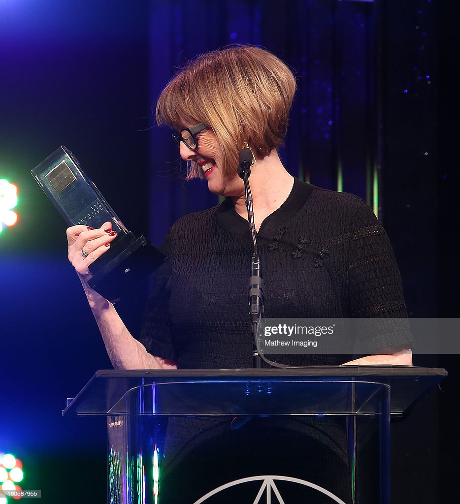 Production Designer Gemma Jackson, receives the the award for Excellence in Production Design for an Episode of a One-Hour Single-Camera Television Series 2012 for Game of Thrones 'The Ghost of Harrenhal' onstage at The 17th Annual Art Directors Guild Awards, held at the Beverly Hilton Hotel on February 2, 2013 in Beverly Hills, California.