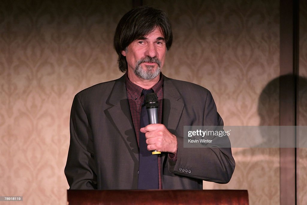 Production Designer Jack Fisk winner of the LA Film Critic's Production Design Award for 'There Will Be Blood' speaks at the 2007 LA Film Critic's Choice Awards held at the InterContinental on January 12, 2008 in Los Angeles, California.