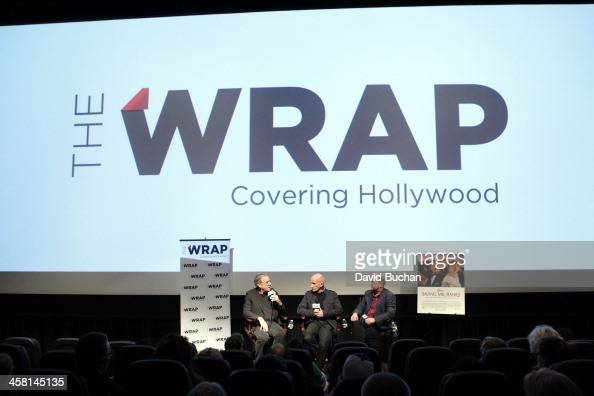 Production designer Michael Corenblith Costume designer Daniel Orlandi and moderator Steve Pond attend TheWrap's Awards Foreign Screening Series...