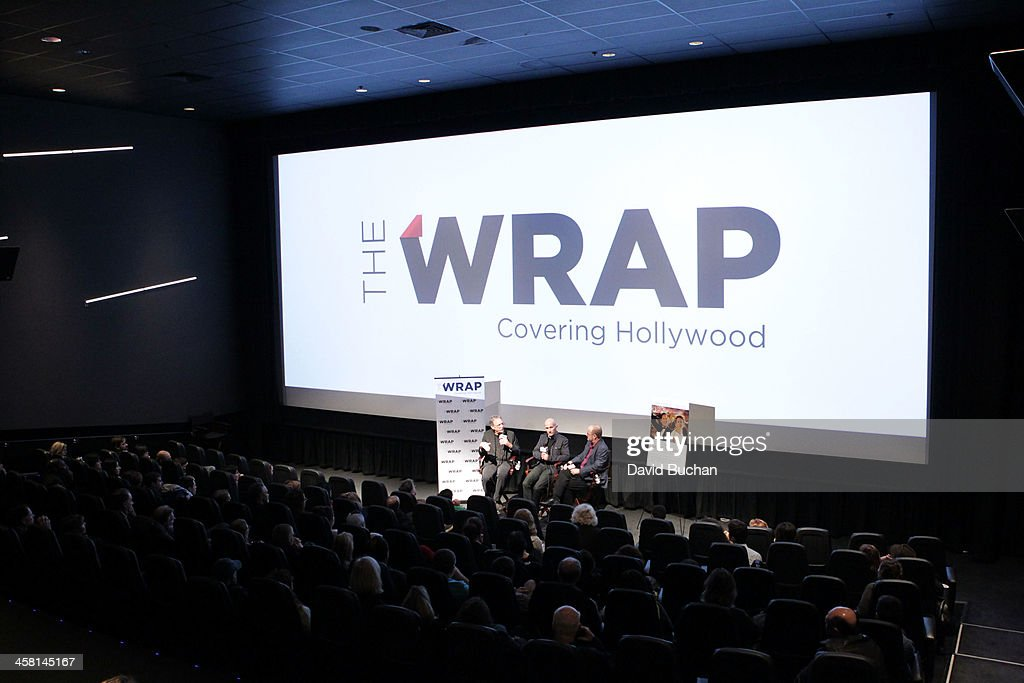 Production designer Michael Corenblith, Costume designer Daniel Orlandi and moderator Steve Pond attend TheWrap's Awards & Foreign Screening Series 'Saving Mr. Banks' at the Landmark Theater on December 19, 2013 in Los Angeles, California.
