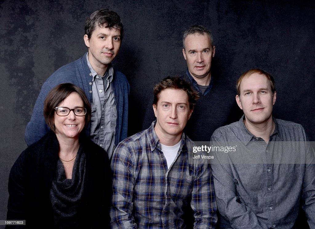 Production designer Richard A. Wright, cinematographer Tim Orr (Bottom L-R) producer Lisa Muskat, filmmaker <a gi-track='captionPersonalityLinkClicked' href=/galleries/search?phrase=David+Gordon+Green&family=editorial&specificpeople=2901053 ng-click='$event.stopPropagation()'>David Gordon Green</a>, and producer <a gi-track='captionPersonalityLinkClicked' href=/galleries/search?phrase=Craig+Zobel&family=editorial&specificpeople=4120926 ng-click='$event.stopPropagation()'>Craig Zobel</a> pose for a portrait during the 2013 Sundance Film Festival at the WireImage Portrait Studio at Village At The Lift on January 20, 2013 in Park City, Utah.