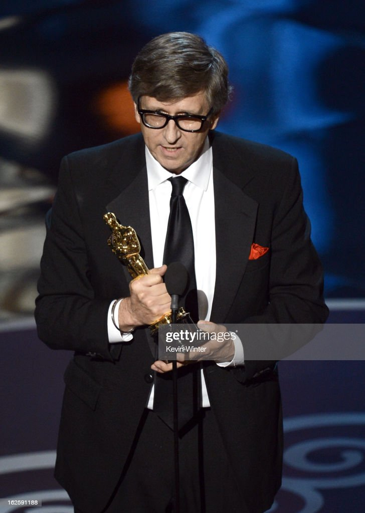 Production designer Rick Carter accepts the Best Production Design award for 'Lincoln' onstage during the Oscars held at the Dolby Theatre on...