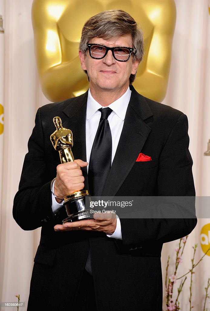 Production designer Rick Carter poses in the press room during the Oscars at the Loews Hollywood Hotel on February 24, 2013 in Hollywood, California.
