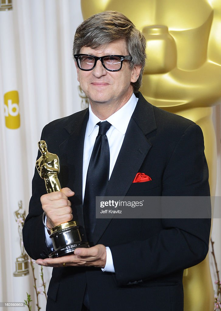 Production designer Rick Carter poses in the press room during the Oscars at Loews Hollywood Hotel on February 24 2013 in Hollywood California