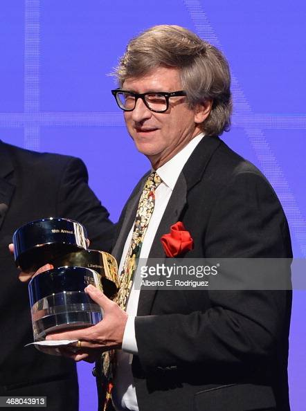 Production designer Rick Carter speaks on stage atthe 18th Annual Art Directors Guild Exellence In Production Design Awards at The Beverly Hilton...