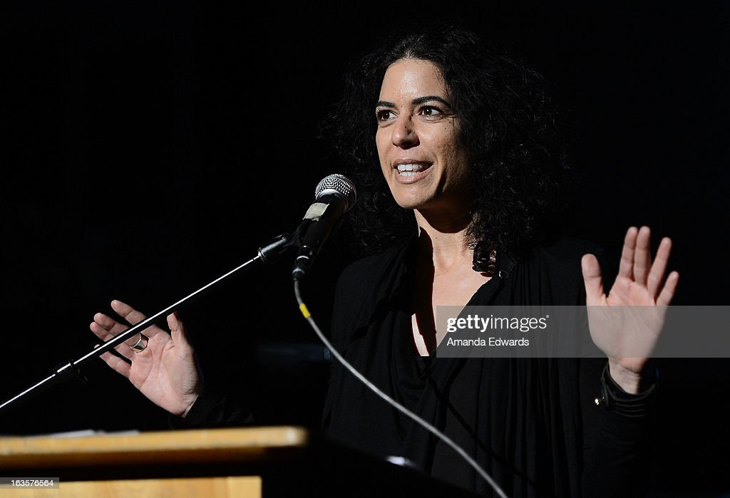 Production designer Shana Mabari speaks at the BAFTA LA Reality TV Master Class led by Rob Bagshaw at George Washington Preparatory High School on March 12, 2013 in Los Angeles, California.