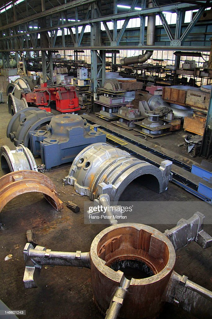 production hall at foundry : Stock Photo