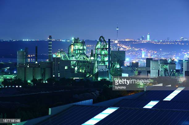 production line beyond the modern city