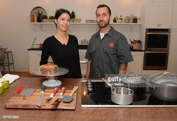 Production Manager at Billy's Bakery Moriah Tulier and Chef Andrew Benson with Anolon Gourmet Cookware at Anolon Cookware presents The Art Of Cake...