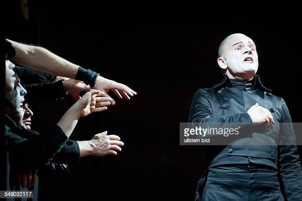 Production of Georg Büchner's play 'Danton's Death' in the Berliner Ensemble scene with Veit Schubert direction Claus Peymann premiere