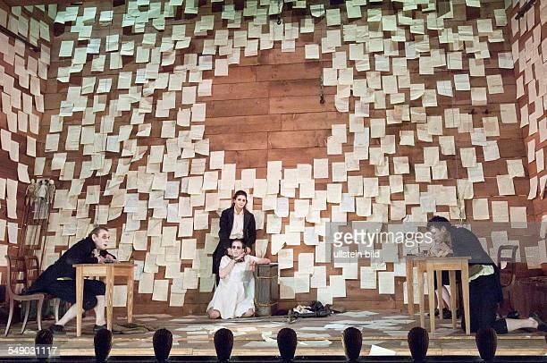 Production of Heinrich von Kleist's play 'Käthchen von Heilbronn' in the Deutsches Theater Berlin scene with Jörg Pose Barbara Heynen Elias Arens and...