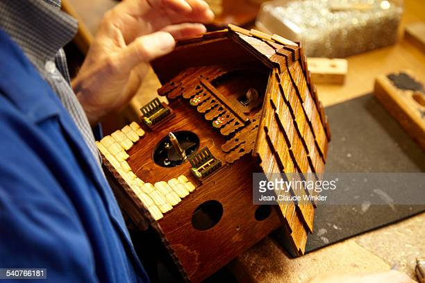 Production of original German cuckoo clock