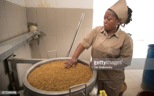 Production of Parboiled Rice in a rice processing plant of the Dreyer Foundation in Dano on February 28 2017 in Dano Burkina Faso