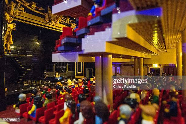 A production of Phantom of the Opera takes place in a Lego Her Majesties Theatre made out of 57992 bricks over 11 months at ExCel on December 10 2015...