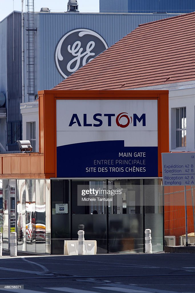 Production plants of engineering firms General Electric and Alstom stand near each other on May 5, 2014 in Belfort, France. General Electric is seeking to take over Alstom, one of its main competitors, and so far a counter move by Siemens to buy Alstom instead seems more and more unlikely.