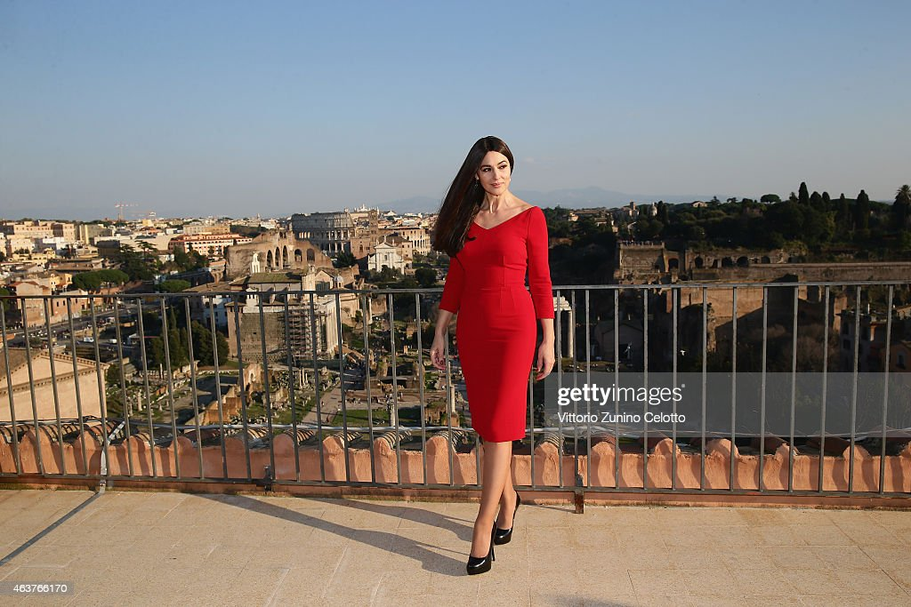 Productions, Metro-Goldwyn-Mayer and Sony Pictures Entertainment commence filming in Rome, Italy for the 24th James Bond adventure SPECTRE. Pictured <a gi-track='captionPersonalityLinkClicked' href=/galleries/search?phrase=Monica+Bellucci&family=editorial&specificpeople=204777 ng-click='$event.stopPropagation()'>Monica Bellucci</a>. Event date: February 18, 2015.