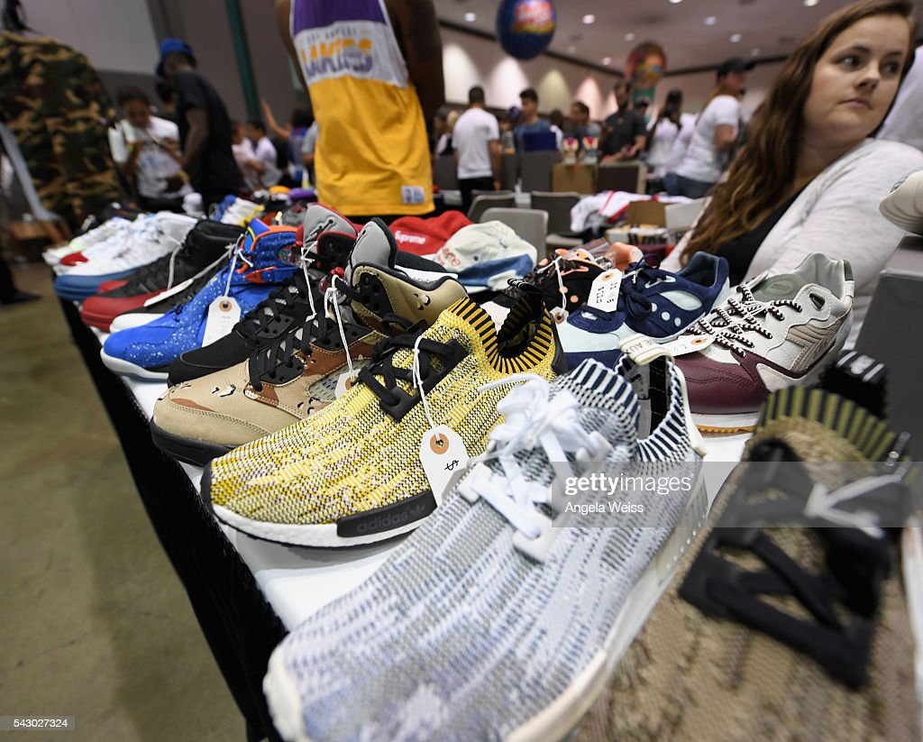 Products are displayed at FAN FEST during the 2016 BET Experience on June 25, 2016 in Los Angeles, California.