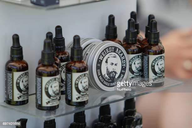 Products for bear care are seen on sale in Bydgoszcz Poland on 18 June 2017