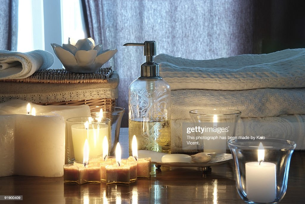 Products for relaxation : Stock Photo