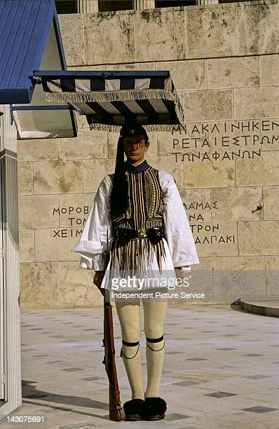 Proedriki Froura at the Tomb of the Unknown Soldier in Athens Greece