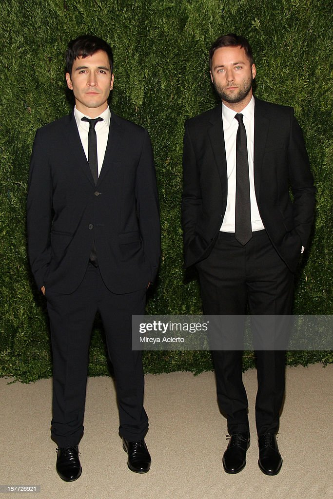 Proenza Schouler's Lazaro Hernandez and Jack McCollough attend CFDA and Vogue 2013 Fashion Fund Finalists Celebration at Spring Studios on November 11, 2013 in New York City.